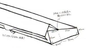 ノートパソコン傾斜箱ラフ